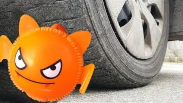 Crushing Crunchy & Soft Things by Car! EXPERIMENT CAR vs toys slime antistress  by Max Eddykin