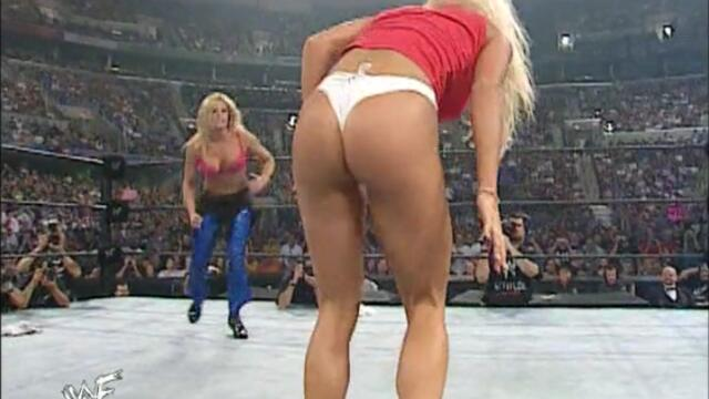 Trish Stratus and Lita vs Torrie Wilson and Stacy Keibler (Bra and Panties match)