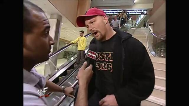 Stone Cold airport (Raw 19.03.2001)