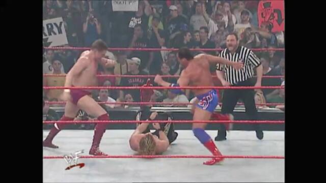 Kurt Angle & William Regal vs Chris Jericho (Handicap Match)