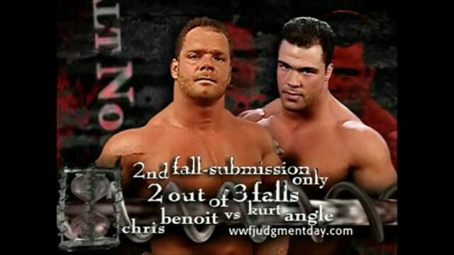 Kurt Angle vs Chris Benoit (Two-out-of-three falls match for Angle's Olympic Gold Medal) Promo