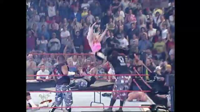 The Dudley Boyz vs Crash & Hardcore Holly (Tag Team Table Match)