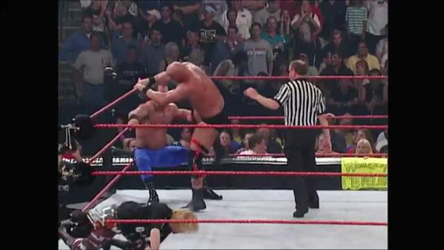 Chris Jericho, Chris Benoit, and Spike Dudley vs Steve Austin and The Dudley Boyz