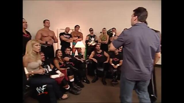 Alliance backstage after Unforgiven (Raw 24.09.2001)