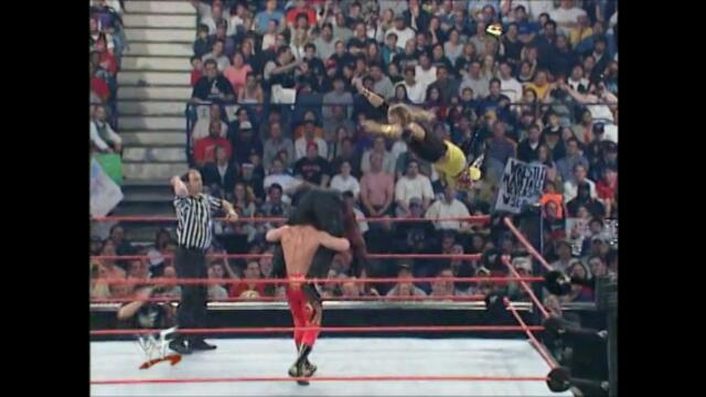 Matt Hardy vs Christian vs Eddie Guerrero (Triple threat match for the WWF European Championship)