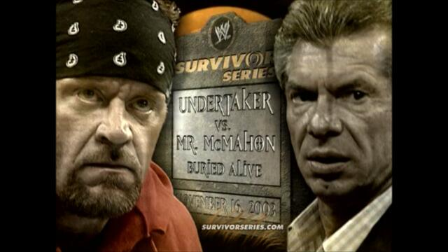 Mr. McMahon vs The Undertaker (Buried Alive match)