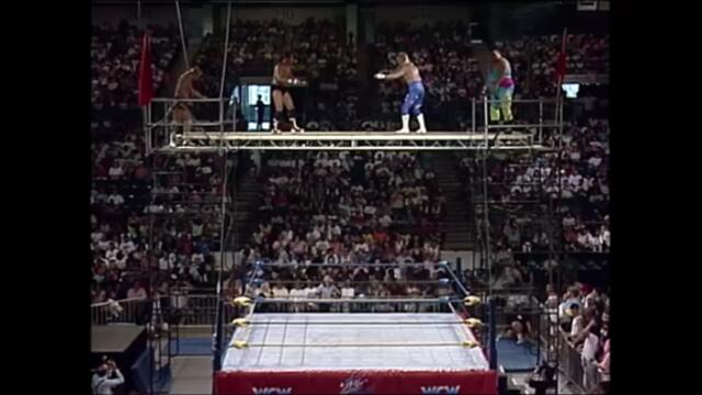 P.N. News and Bobby Eaton vs Steve Austin and Terrance Taylor (Capture-The-Flag Scaffold match)