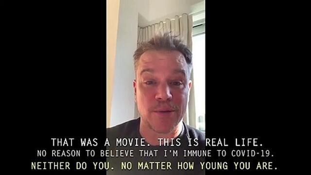 Matt Damon explains why SocialDistancing is the most critical thing you can do