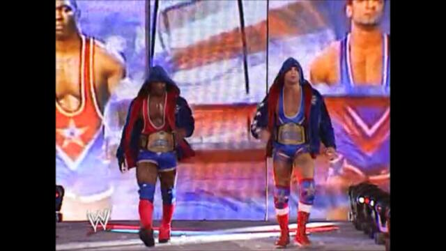 Team Angle vs Chris Benoit and Rhyno vs Los Guerreros (Smackdown Tag Team Championship WrestleMania XIX)