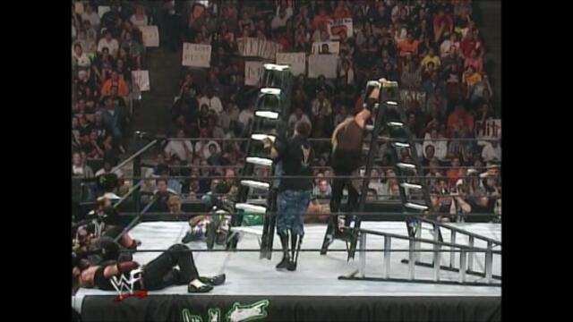Edge and Christian vs  The Dudley Boyz vs The Hardy Boyz (Triangle ladder match for the WWF Tag Team Championship)