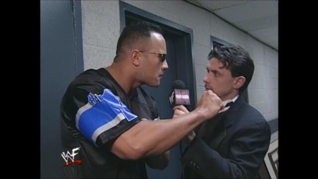 WWF The Rock backstage Royal Rumble (2000)
