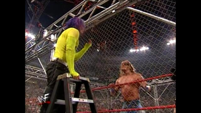 The Hardy Boyz vs Edge and Christian (Steel Cage match for the WWF Tag Team Championship)