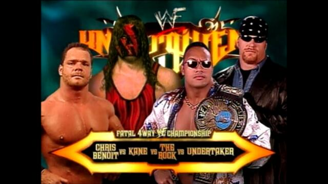 The Rock vs Chris Benoit vs Kane vs The Undertaker (Fatal 4-Way match for the WWF Championship)