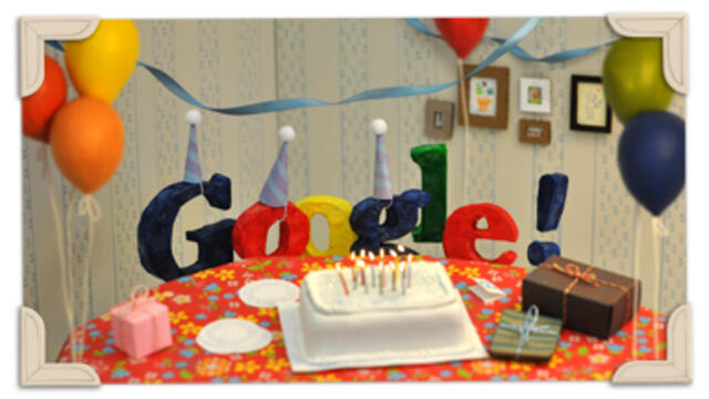 Google's 22nd Birthday Google Doodle 2020 г. 22 години с Гугъл