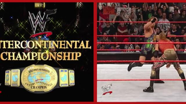 Rob Van Dam vs Christian to retain the WWF Intercontinental Championship