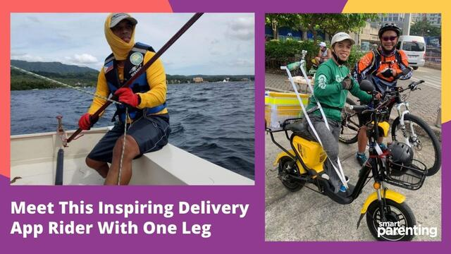 Meet This Inspiring Delivery App Rider With One Leg