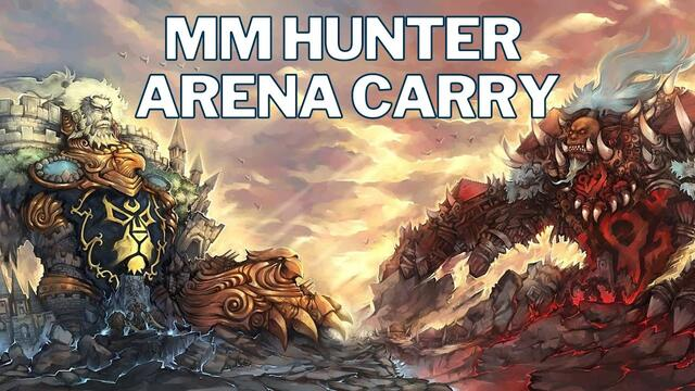 MM Hunter Arena Carry 2v2 WoW SL | Shadow Priest & WW Monk | World of Warcraft