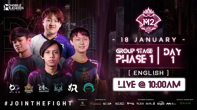 (ENGLISH) M2 Group Stage Phase 1 - Day 1 | MLBB World Championship 2020 | Singapore