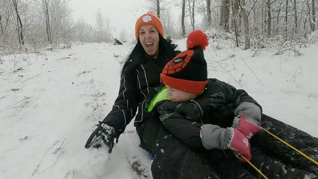 Who Says Sledding Is Just For The Kids?