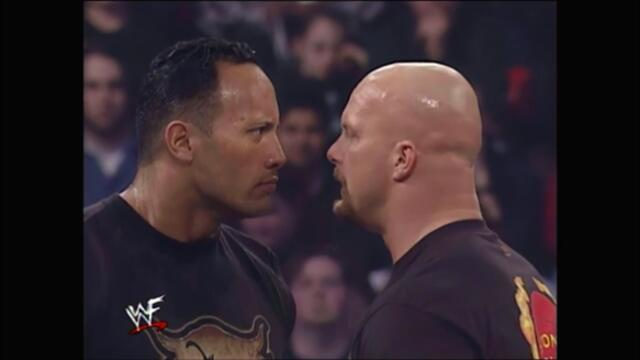 Rock & Austin face off before WrestleMania