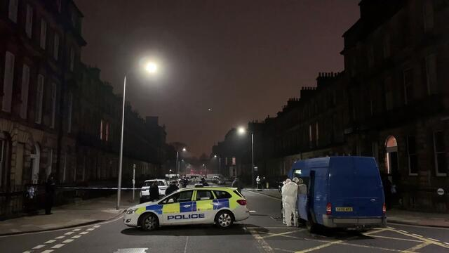 Bradley Welsh - Police investigate the scene following the fatal shooting