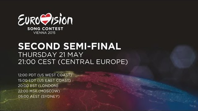 Евровизия 2015 полуфинал 2 Eurovision Song Contest: Semi-Final 2