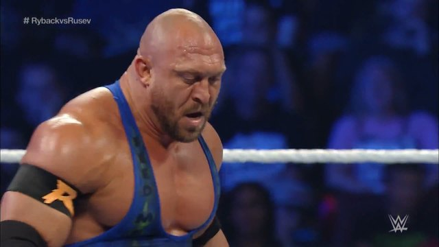 Ryback vs. Rusev- SmackDown, Oct. 8, 2015