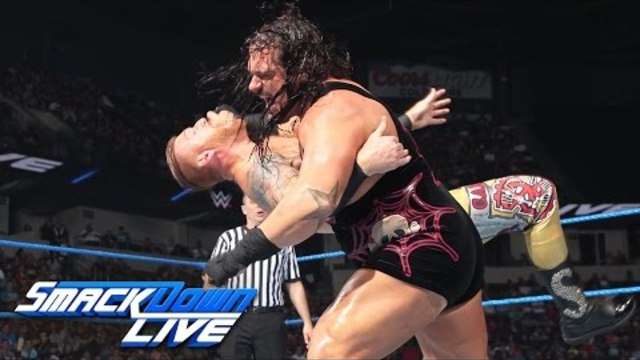 Rhyno vs. Heath Slater - If Heath Slater wins, he receives a contract: SmackDown Live, Aug. 9, 2016