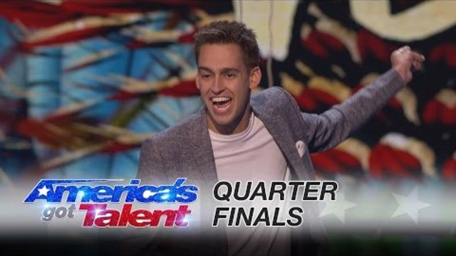 Blake Vogt: Magician Blows Judges' Minds With Cards And Word Reveal - America's Got Talent 2016