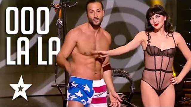 Sexy Burlesque Dancing Couple on Got Talent | Got Talent Global