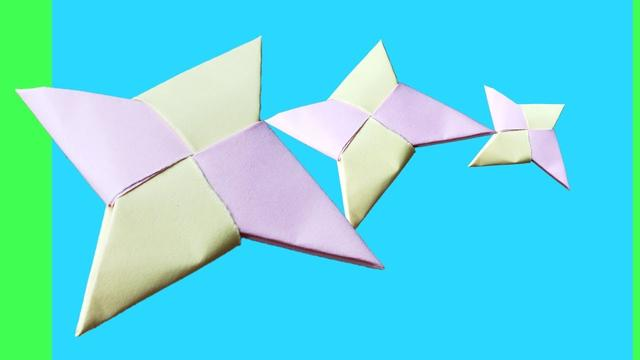 How To Make a Paper Ninja Star Shuriken - Origami by Devlin Fox