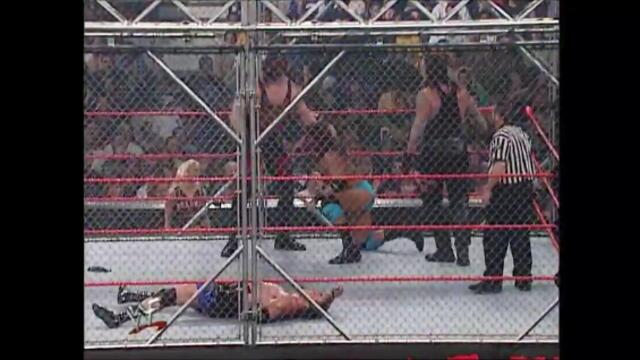 Kane & The Undertaker vs Chuck Palumbo & Sean O'Haire (WWF Steel Cage Match)