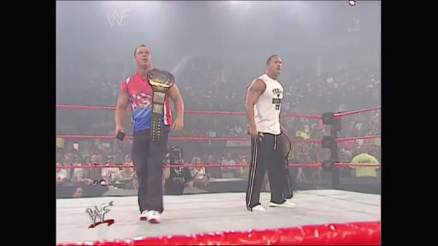 The Rock, Kurt Angle segment Shane McMahon (Raw 01.10.2001)