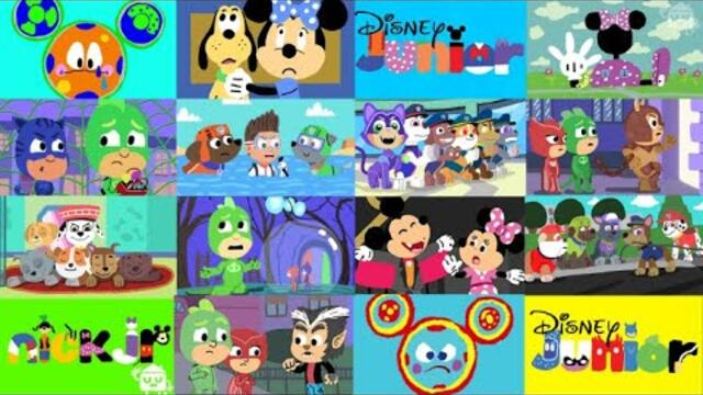 1000 Doodles Paw Patrol, Mickey Mouse, PJ Masks & More - Disney Junior & Nick Jr ( 1 HOUR 17 MINS )