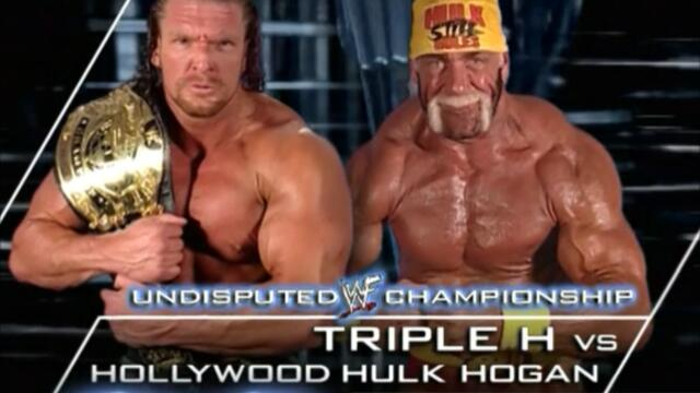 Hollywood Hulk Hogan vs Triple H Undisputed WWF Championship Backlash (2002)