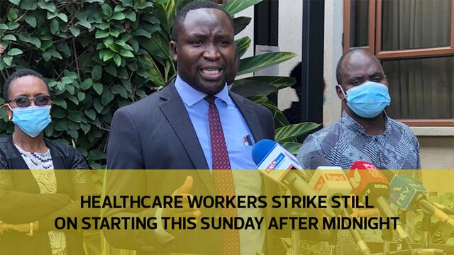 Healthcare workers strike still on starting this Sunday after midnight