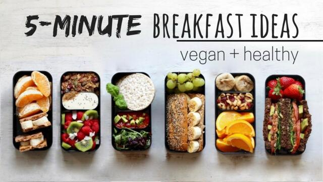 QUICK VEGAN BREAKFAST IDEAS » bento box style