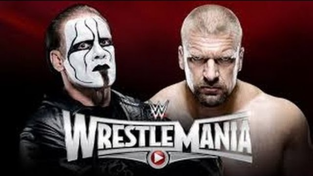 WWE Wrestlemania 31 Sting vs Triple H