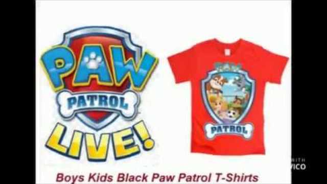 Boys Kids Chocolate Marshal chase bubble Paw Patrol T Shirts
